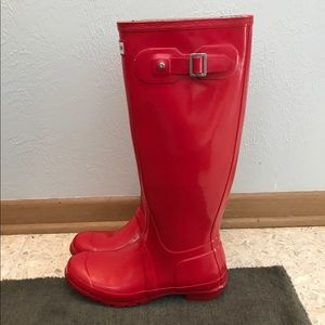 Hunter Shoes - Hunter Rain Boots Tall Tent Red & 57% off Hunter Shoes - Hunter Rain Boots Tall Tent Red from ...